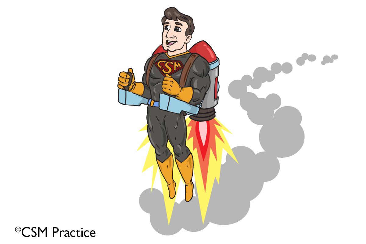 Hero with Rocket