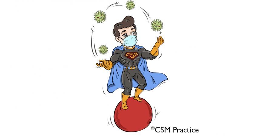 CSM Hero Juggling Corona Virus
