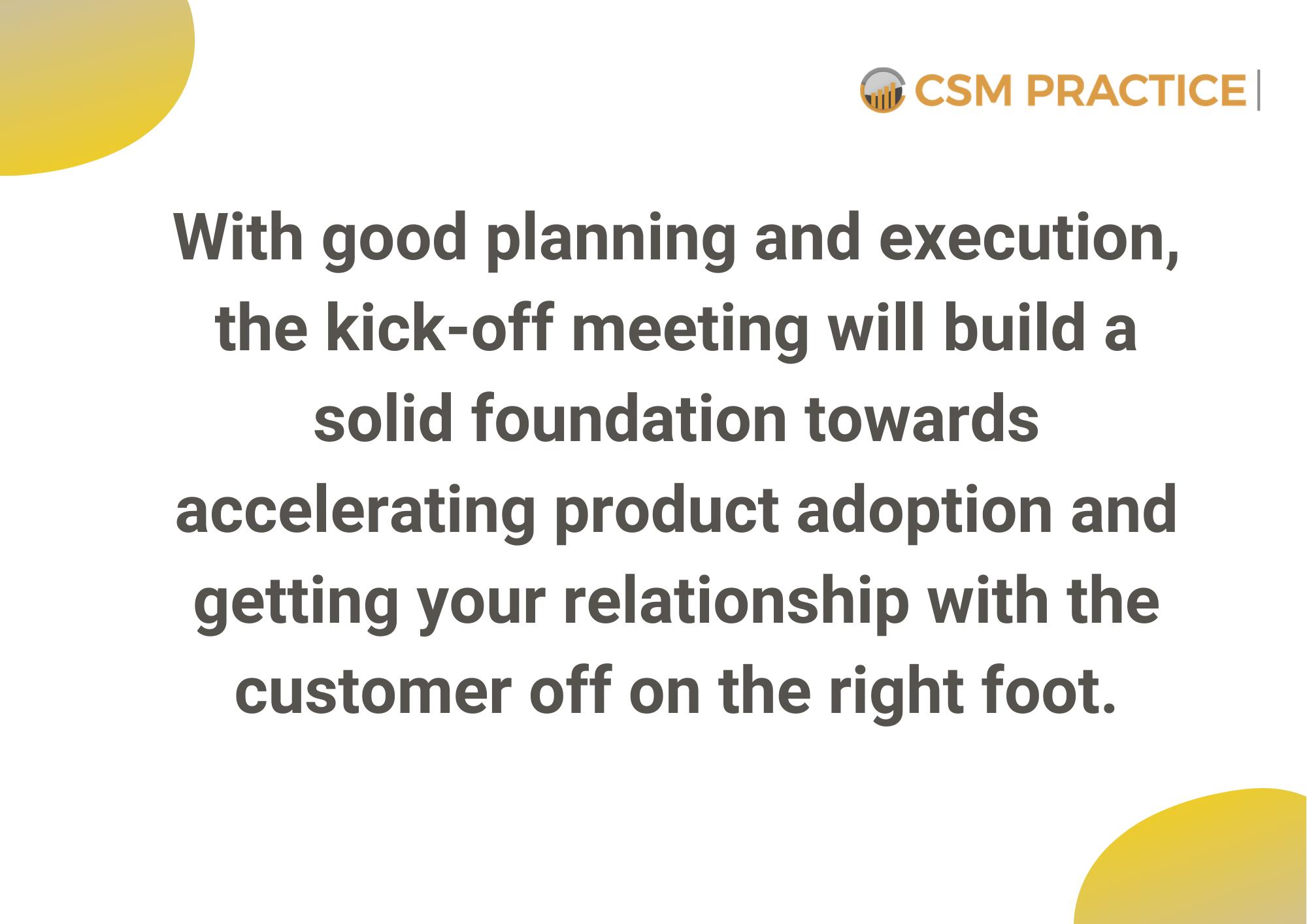 Customer Success Kickoff Meetings 1
