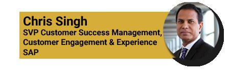 chris singh SAP customer health score