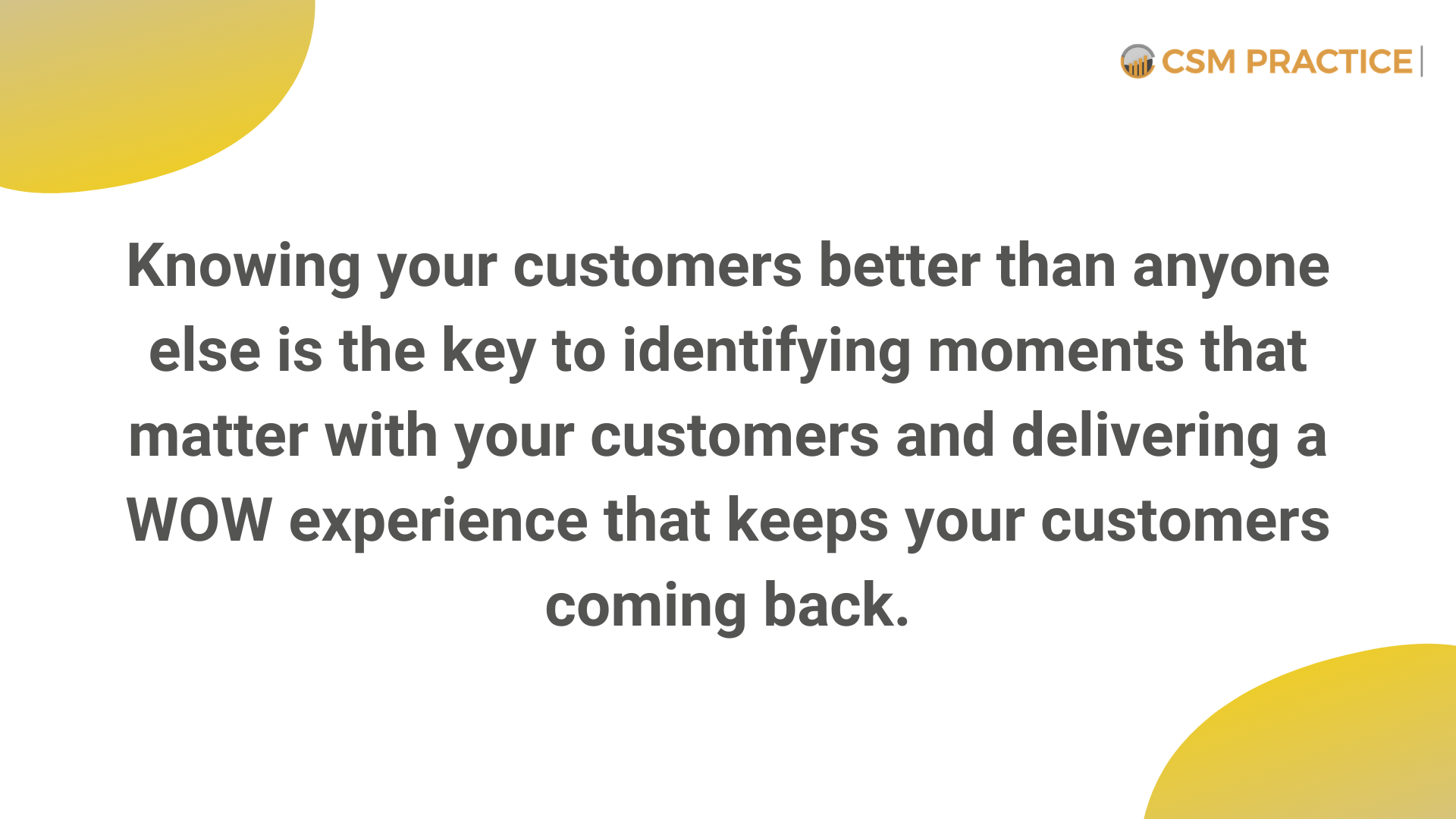 customer success knowing your customers