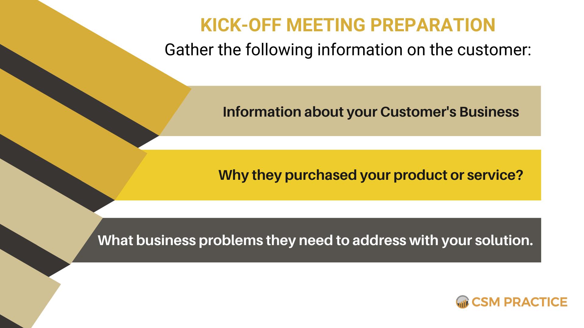 kick off meeting preparation